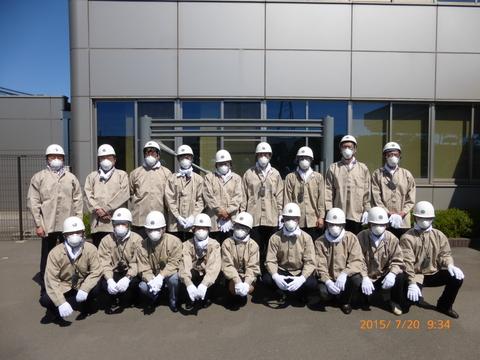 2015年7月20日(月) 合同製鐵株式会社様 工場見学会