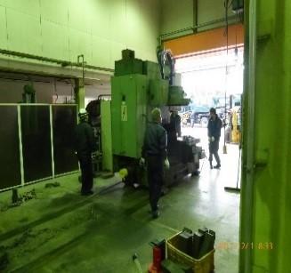 第4工場新規設備 横形マシニングセンタ オークマMB-5000H納入
